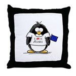 Alaska Penguin Throw Pillow