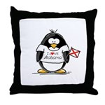 Alabama Penguin Throw Pillow