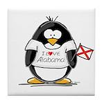 Alabama Penguin Tile Coaster