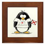 Alabama Penguin Framed Tile