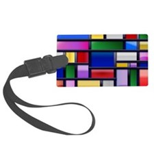 Modern Fashionable Abstract shapes Luggage Tag