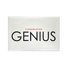 Undercover Genius Funny T Shirt Rectangle Magnet