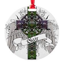 Blair Tartan Cross Ornament