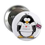 Hawaii Penguin Button