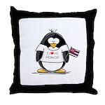 Hawaii Penguin Throw Pillow