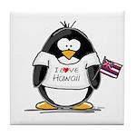 Hawaii Penguin Tile Coaster