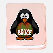 Bruce Tartan Penguin baby blanket