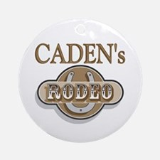 Caden's Rodeo Personalized Ornament (Round)