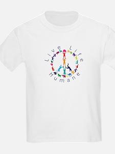 Live Life Humane Logo T-Shirt