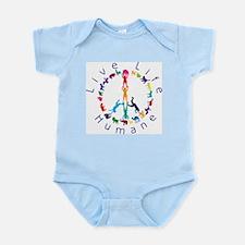 Live Life Humane Logo Infant Bodysuit