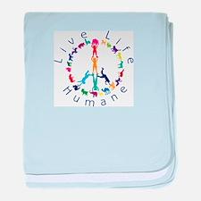 Live Life Humane Logo baby blanket