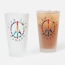 Live Life Humane Logo Drinking Glass