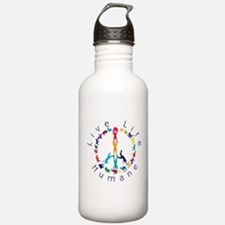 Live Life Humane Logo Water Bottle