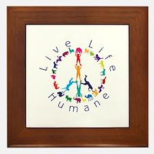 Live Life Humane Logo Framed Tile