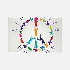 Live Life Humane Logo Rectangle Magnet