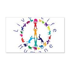 Live Life Humane Logo Wall Decal