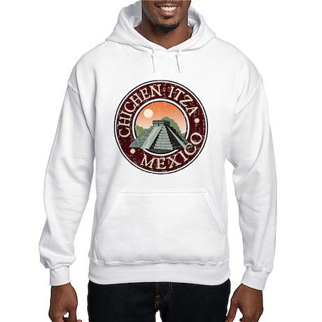 Chichen Itza - Distressed Hooded Sweatshirt