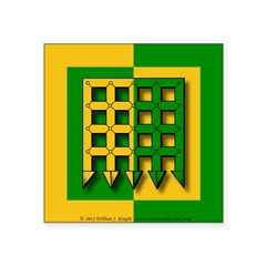 Unser Hafen Populace Square Sticker 3