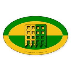 Unser Hafen Populace Sticker (Oval 50 pk)