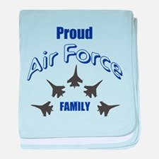 Proud Air Force Family baby blanket
