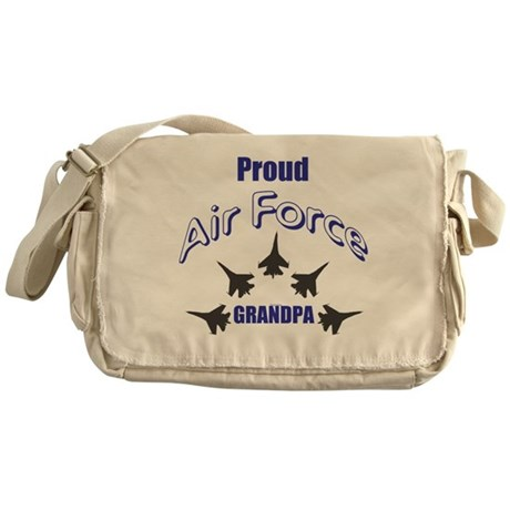 Proud Air Force Grandpa Messenger Bag