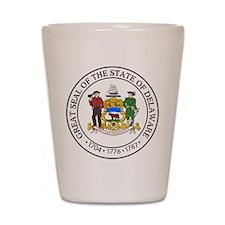 Delaware State Seal Shot Glass