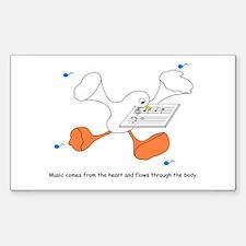 Speaker-Duck Sticker (Rectangle)