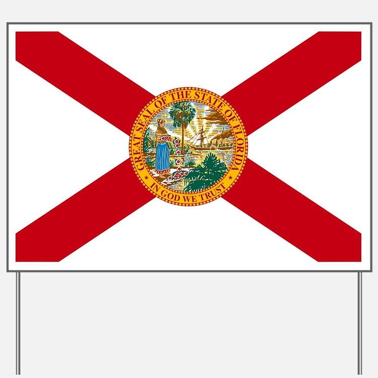 Florida State Flag Yard Sign