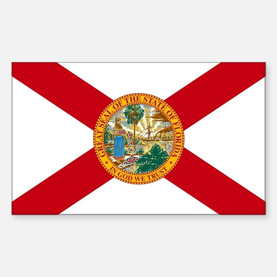 Florida State Flag Sticker (Rectangle)