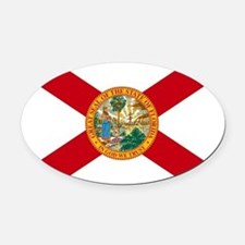 Florida State Flag Oval Car Magnet