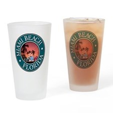 Miami Beach Drinking Glass