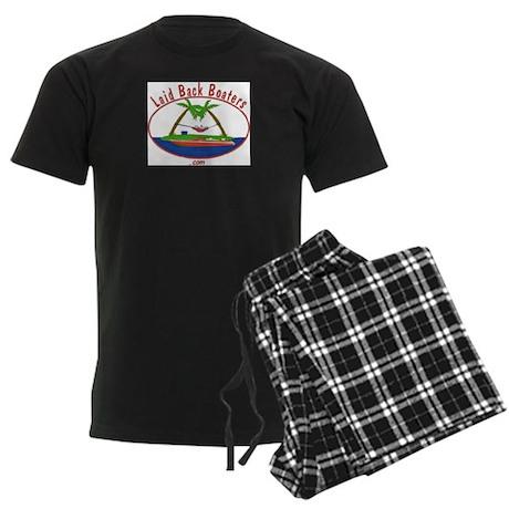 Laid Back Boaters Logo Men's Dark Pajamas