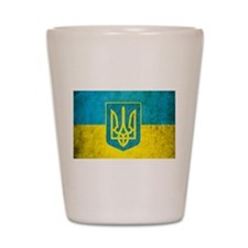 Vintage Ukraine Flag Shot Glass