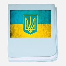 Vintage Ukraine Flag baby blanket