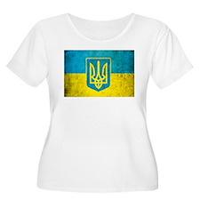 Vintage Ukraine Flag T-Shirt