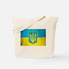 Vintage Ukraine Flag Tote Bag