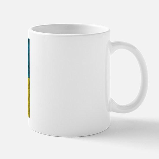 Vintage Ukraine Flag Mug