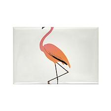 Orange Sherbet Flamingo Rectangle Magnet