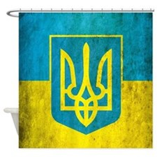 Vintage Ukraine Flag Shower Curtain