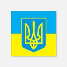 "Ukraine Flag Square Sticker 3"" x 3"""