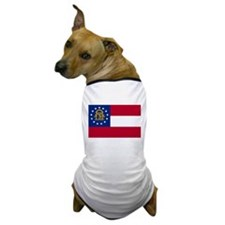 Georgia State Flag Dog T-Shirt