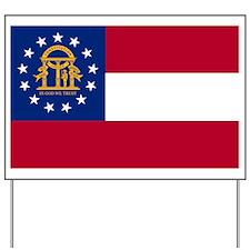 Georgia State Flag Yard Sign