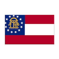 Georgia State Flag Rectangle Car Magnet