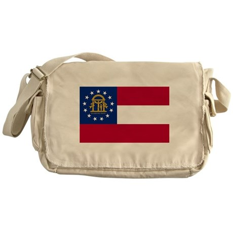 Georgia State Flag Messenger Bag