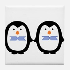 Teo Male Penguins Tile Coaster