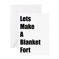 Blanket Fort Card Greeting Cards