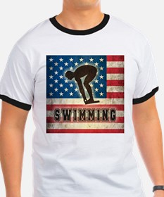 Grunge USA Swimming T