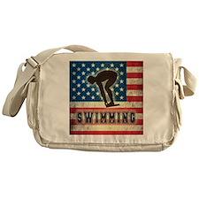 Grunge USA Swimming Messenger Bag