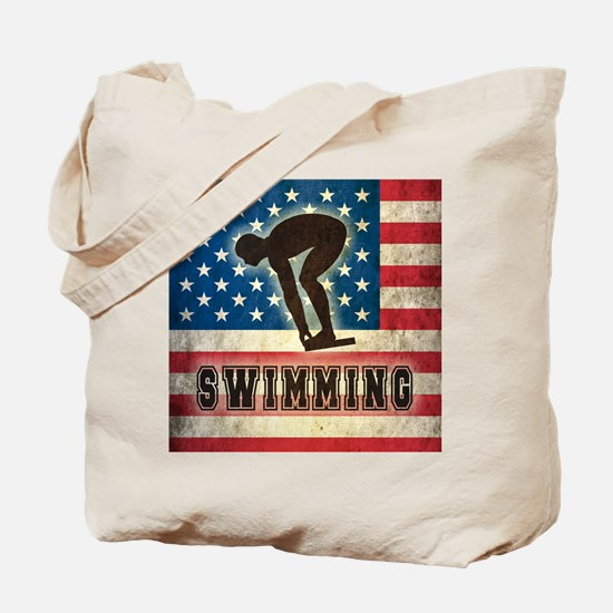 Grunge USA Swimming Tote Bag
