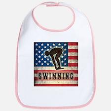 Grunge USA Swimming Bib